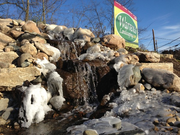 Waterfall , Milford, Loveland , Cincinnati , fountain , warrens landscaping, 1334 state route 131 Milford Ohio 45150