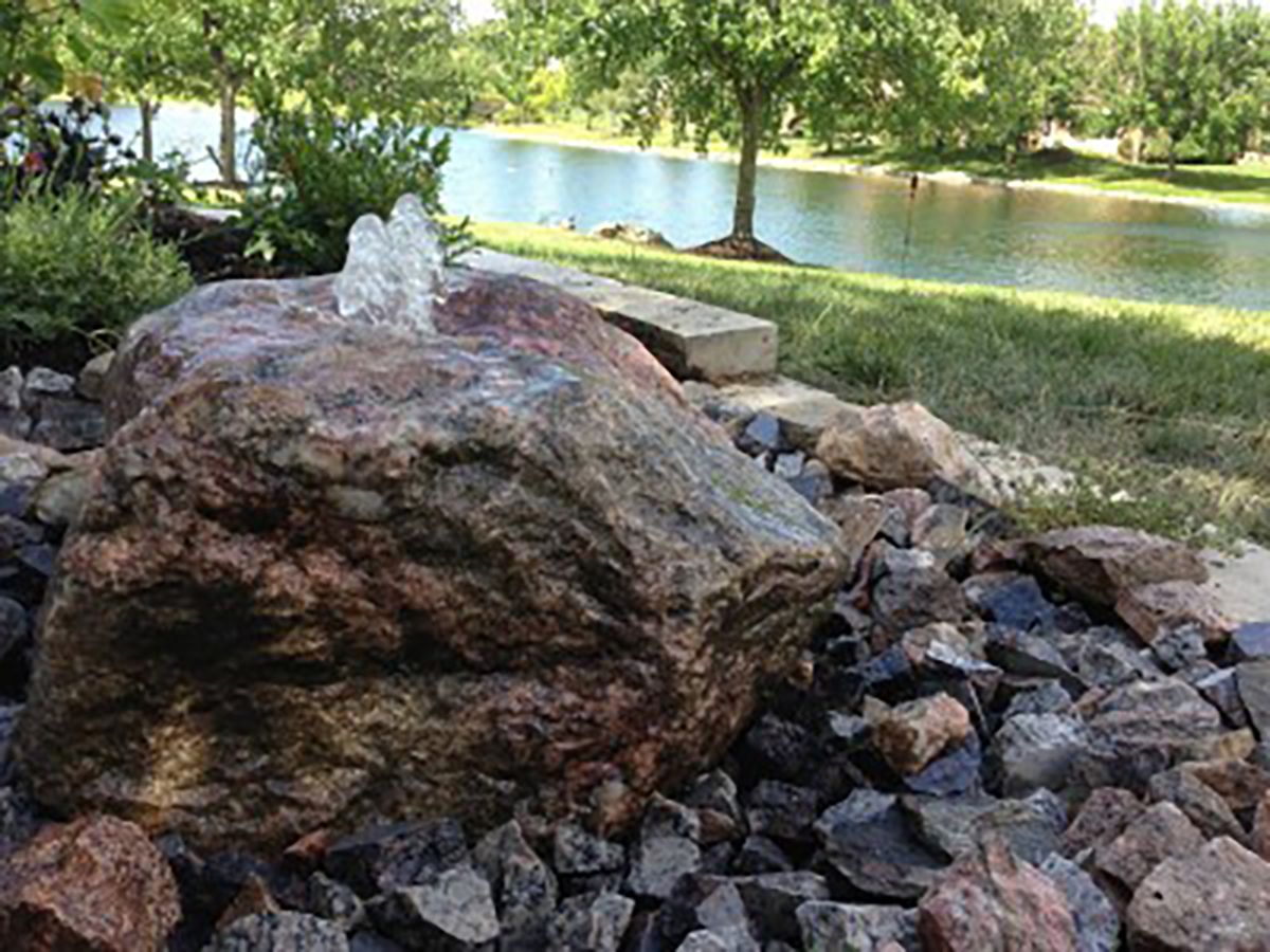Granite Bubbling Boulder Fountain