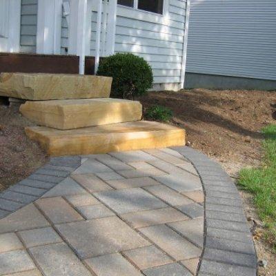 Stone Steps & Paver Walkway