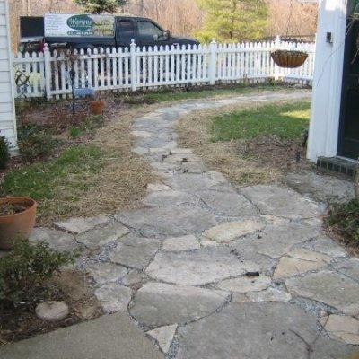 Stone Pathway & Patio