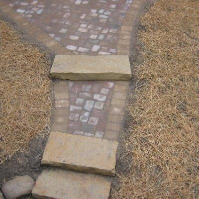 Paver Walkway & Stone Steps