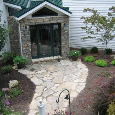 Landscape Design with Stone Patio