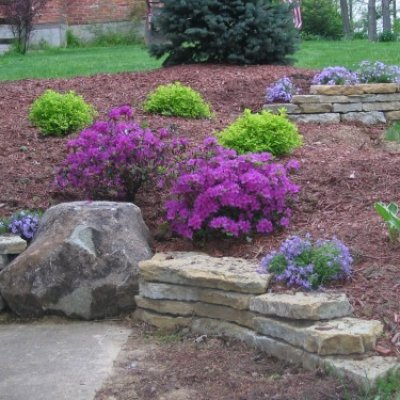 Landscape Design & Retaining Wall