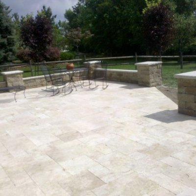 Travertine, paver walkway, stone, natural, brick, milford, loveland, east side of cincinnati