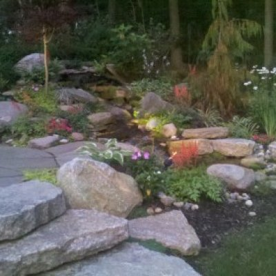 low maintenance pondless water fall