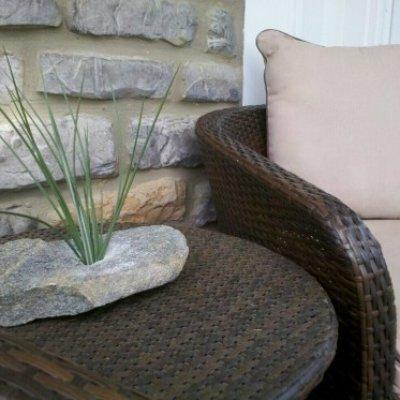 Rock Vase, custom drilled rocks, milford, loveland, cincinnati,