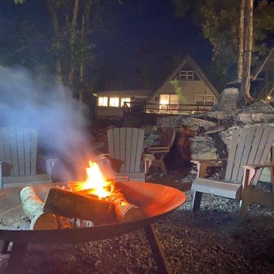 Oversized fire pit