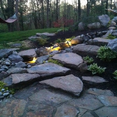 LED lighting With Custom Water Feature