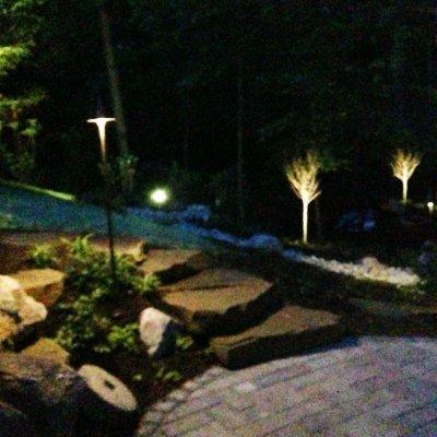LED Lighting With Custom Pavor Patio