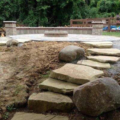 Natrual Sandstone Steps