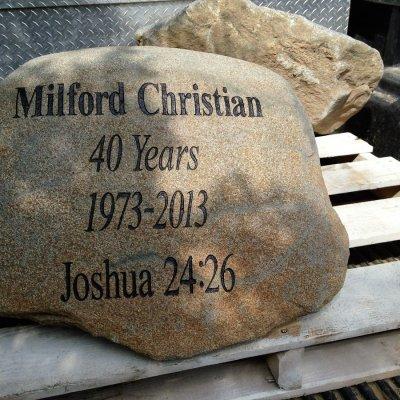 Stone Engraving Custom Lettering