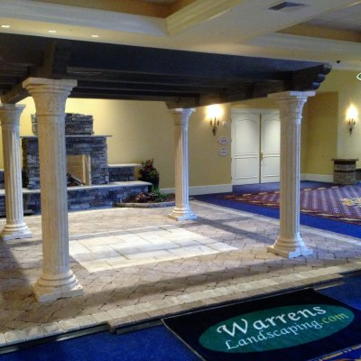 Coldstream Patio Custom Inlay Outdoor Fireplace Custom Pergola