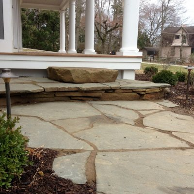 Natrual Sandstone Steps Irregular Pennsylvania Blue Flagstone Walkway