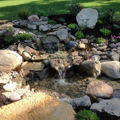 Landscape Desgin With Custom Water Fall