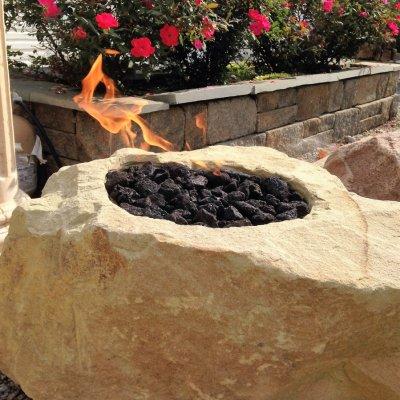 Custom Fire Boulder