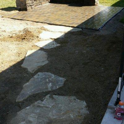 Natrual Sandstone Walkway