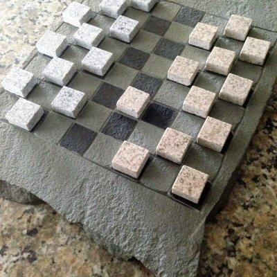 Illregular Pennsylvania Blue Flagstone Checker Board