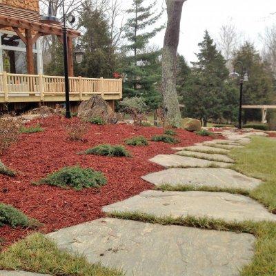 Landscape Design With Illregular Pennsylvania Blue Flagstone