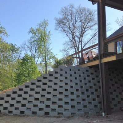 Allan Block Green Wall