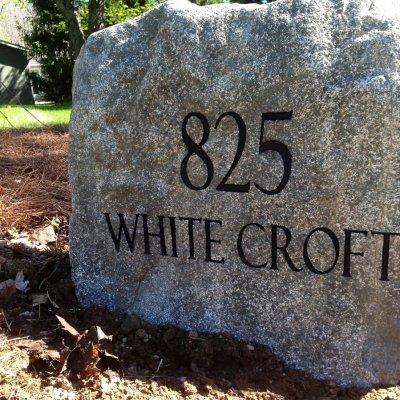 Engraved Address Stone