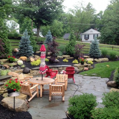 Illregular Pennsylvania Blue Flagstone Patio