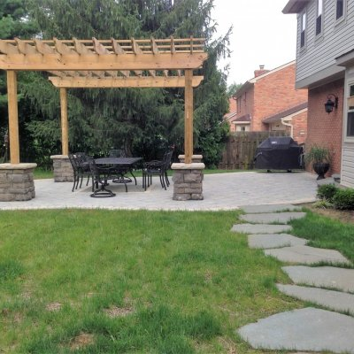 Illregular Pennsylvania Blue Flagstone Walkway