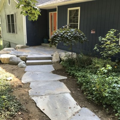Stone Walkway and Landing