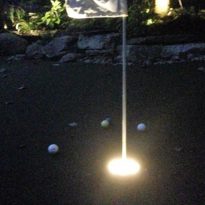 Custom Putting Green With LED Light Up Cup