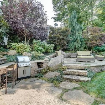 Grill Station, Patio, Waterfall, Putting Green