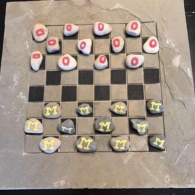 Stone checker boards