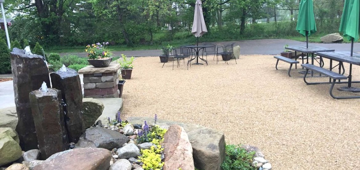 Gravel Patio - Water Feature